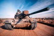 M60 Battle Tank In Motion