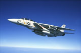 DBR100005M © Stocktrek Images, Inc. U.S. Navy F-14A Tomcat in flight.