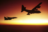 DBR100014M © Stocktrek Images, Inc. U.S. Navy F-14A Tomcat aerial refueling from a KC-130 Hercules.