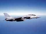 DBR100026M © Stocktrek Images, Inc. F-14A Tomcat in flight above the Pacific Ocean.