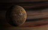 FHV100017S © Stocktrek Images, Inc. Artist's concept of a Mars-like moon in front of a gas giant.