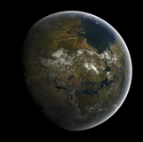 FHV100018S © Stocktrek Images, Inc. Artist's concept of a terraformed Mars.