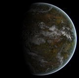 FHV100022S © Stocktrek Images, Inc. A partially lit terrestrial world.
