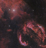 JDA100057S © Stocktrek Images, Inc. The Veil Nebula in the constellation Cygnus glows red.