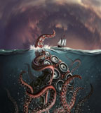 JRY400002U © Stocktrek Images, Inc. A fantastical depiction of the legendary Kraken.