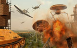 MAS100699S © Stocktrek Images, Inc. An alternate reality where Allied and German Forces unite in fighting an alien invasion.