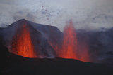MRE100080S © Stocktrek Images, Inc. Fimmvorduhals eruption, lava fountains, Eyjafjallajokull, Iceland.