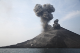 MRE100102S © Stocktrek Images, Inc. Krakatau eruption, Sunda Strait, Indonesia.