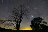 PHA100051S © Stocktrek Images, Inc. Southern skies star trails, Mudgee, New South Wales, Australia.