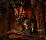 PHB600012P © Stocktrek Images, Inc. Chasmosaurus was a ceratopsid dinosaur from the Upper Cretaceous Period.