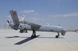 RCN100020M © Stocktrek Images, Inc. A Turkish Air Force TAI Anka unmanned aerial vehicle.