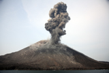 RRS300212S © Stocktrek Images, Inc. Ash cloud from vulcanian eruption of Anak Krakatau volcano, Sunda Strait, Java, Indonesia.
