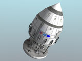 RTA200023S © Stocktrek Images, Inc. Orion-drive spacecraft in standard configuration for space flight.