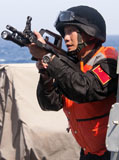 STK107048M © Stocktrek Images, Inc. A member of the Chinese People's Liberation Army.