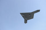 STK107594M © Stocktrek Images, Inc. An X-47B unmanned combat air system in flight.
