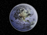 STK200106S © Stocktrek Images, Inc. Digitally enhanced image of the Full Earth showing North America.