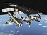 STK201257S © Stocktrek Images, Inc. Artist's rendering of the port side of the International Space Station.