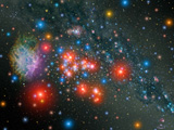 STK201455S © Stocktrek Images, Inc. Red Super Giant Cluster with associated Supernova Remnant