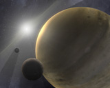 STK201457S © Stocktrek Images, Inc. A hypothetical 10-million-year-old star system.