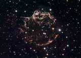 STK203449S © Stocktrek Images, Inc. A detailed view at the tattered remains of a supernova explosion known as Cassiopeia A.