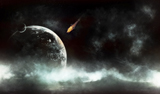 TDB100026S © Stocktrek Images, Inc. An abandoned planet about to get hit by a gigantic asteroid.