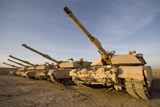 TMO100031M © Stocktrek Images, Inc. M1 Abrams tanks at Camp Warhorse.