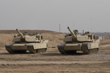 TMO100080M © Stocktrek Images, Inc. M1 Abrams tank at Camp Warhorse.