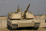 TMO100097M © Stocktrek Images, Inc. M1 Abrams tank at Camp Warhorse.