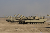 TMO100100M © Stocktrek Images, Inc. M1 Abrams tanks at Camp Warhorse.