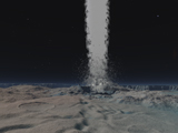 WMY100114S © Stocktrek Images, Inc. Eruption of an ice volcano on the surface of Neptunes moon Triton.