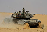 ZDN100122M © Stocktrek Images, Inc. An Israel Defense Force Magach 7 main battle tank in the Negev desert.