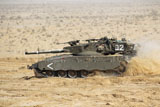 ZDN100140M © Stocktrek Images, Inc. An Israel Defense Force Merkava Mark II main battle tank.