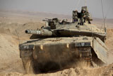 ZDN100152M © Stocktrek Images, Inc. An Israel Defense Force Merkava Mark IV main battle tank.