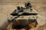 ZDN100154M © Stocktrek Images, Inc. An Israel Defense Force Merkava Mark IV main battle tank.