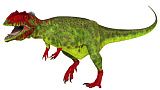 ADR600076P © Stocktrek Images, Inc. Giganotosaurus dinosaur on white background.