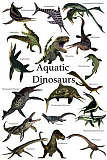 CFR200928P © Stocktrek Images, Inc. Aquatic dinosaurs poster.