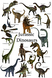CFR200932P © Stocktrek Images, Inc. Poster of prehistoric dinosaurs during the Jurassic period.