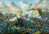 JPA101153M © Stocktrek Images, Inc. Civil War print depicting the Union Army's capture of Fort Fisher.
