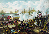 JPA101164M © Stocktrek Images, Inc. War of 1812 print at the Battle of New Orleans.