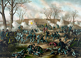 JPA101170M © Stocktrek Images, Inc. Civil War Print of The Battle of Fort Donelson.