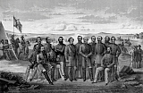 JPA101179M © Stocktrek Images, Inc. Civil War print featuring sixteen of The Confederate Army's top Generals.