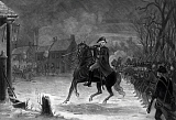 JPA101181M © Stocktrek Images, Inc. Vintage American History print of General George Washington at The Battle of Trenton.
