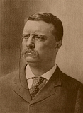 JPA101182M © Stocktrek Images, Inc. Vintage American history print of a younger President Theodore Roosevelt.
