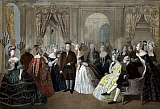 JPA101195M © Stocktrek Images, Inc. American History print of Benjamin Franklin's reception by the French court.
