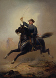 JPA101245M © Stocktrek Images, Inc. Painting of General Philip Sheridan making his famous ride from Winchester.