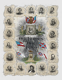 JPA101253M © Stocktrek Images, Inc. Vintage print of prominent Confederate Generals and Statesmen.