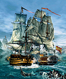 KRT100011M © Stocktrek Images, Inc. Naval warfare was dominated by sailing ships from the 16th to the mid 19th century.