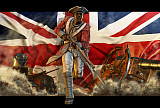 KRT500003A © Stocktrek Images, Inc. Black slave fighting for the British in the American Revolution.