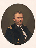 STK500325A © Stocktrek Images, Inc. Oval portrait of Major General Ulysses S. Grant wearing uniform