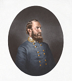 STK500367A © Stocktrek Images, Inc. Portrait of Thomas Stonewall Jackson wearing a blue tunic.